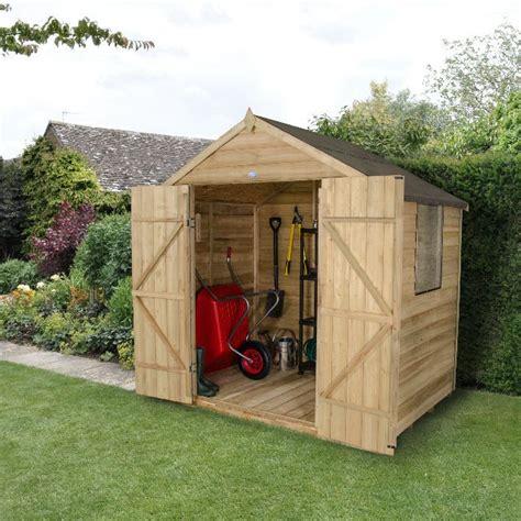 5x7 Shed by Forest Overlap Pt Apex Garden Shed Doors 5x7 Elbec Garden Buildings