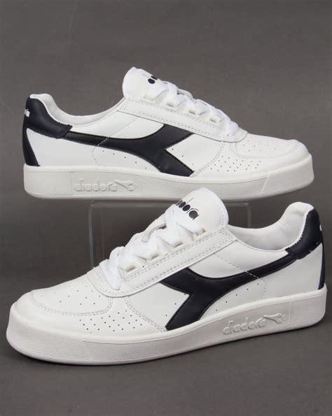 Diadora Clasic Original diadora borg elite trainers white navy leather b elite 80s casuals
