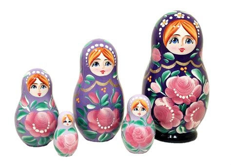 design a nesting doll color gradient russian nesting doll