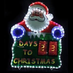 buy solar led countdown santa rope light xmas display