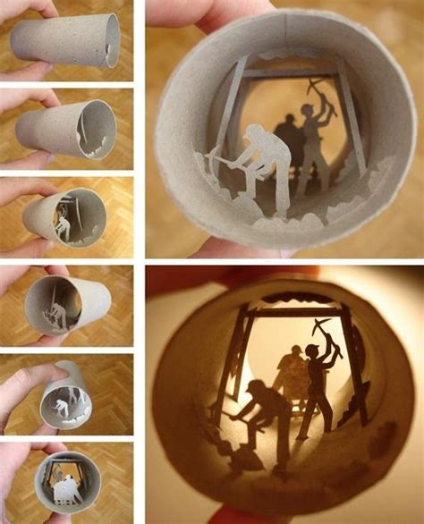 What Can You Make Out Of A Toilet Paper Roll - miniature tp dioramas plus 4 other ideas for reusing