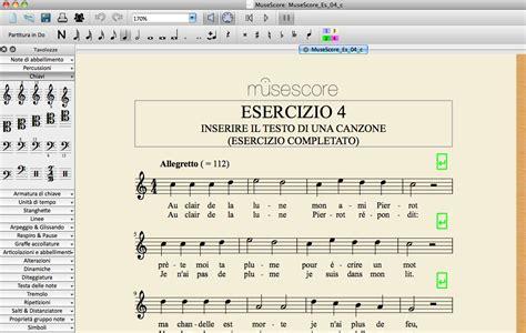 esercizi sul testo della canzone corso introduttivo a musescore esercizio 4 inserire il