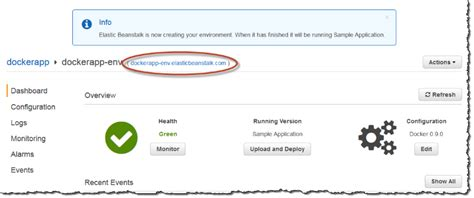 aws console url deploying an application from a docker container to aws