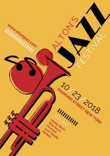 canva jazz jazz poster templates canva