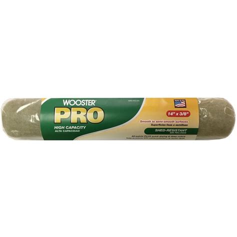 home depot pro x paint wooster pro 9 in x 3 8 in high density woven roller