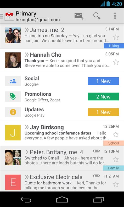 android gmail unveils brand new gmail inbox experience new android app coming in the next few weeks