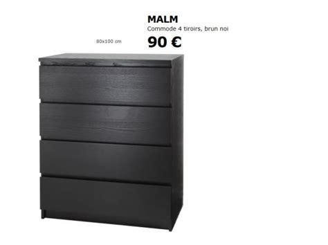 commode noir ikea commode ikea malm tiroirs clasf