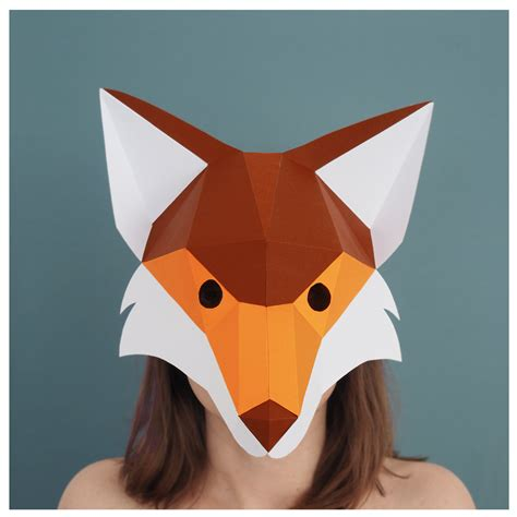 fantastic mr fox mask template fox mask printable template fantastic mr fox costume
