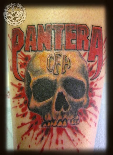 pantera skull tattoo by chris tattoo designs