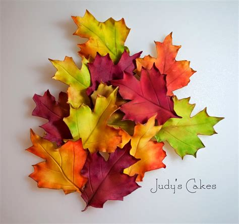 how to fall in judy s cakes how to make fall leaves part 2