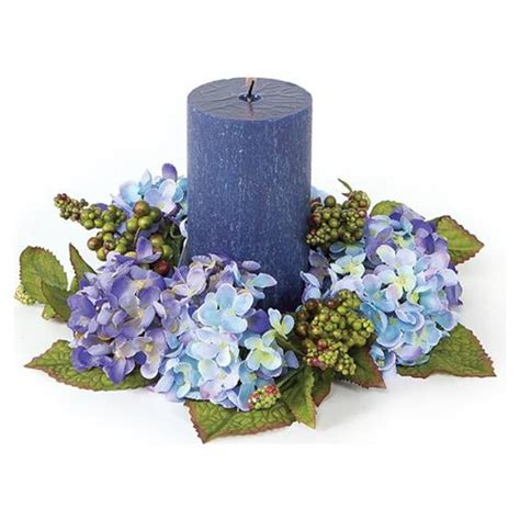 candle wreaths blue flower candle wreaths wedding the wedding