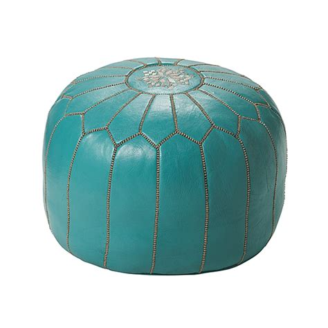 serena and ottoman serena and turquoise moroccan leather pouf copy cat