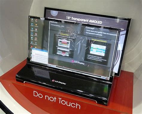 Mobile Display - lg display and samsung mobile show transparent oleds
