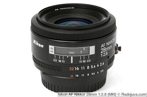 Nikon Af 28mm F 2 8d Nikkor Lens A nikon af nikkor 28mm 1 2 8 mki