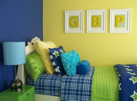 yellow green  blue girls bedroom traditional