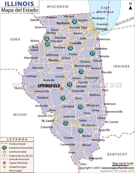 chicago mapa mapa estado de illinois estados unidos de america