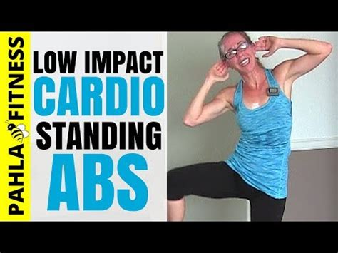 low impact cardio standing abs metcon home workout no jumping no equipment needed