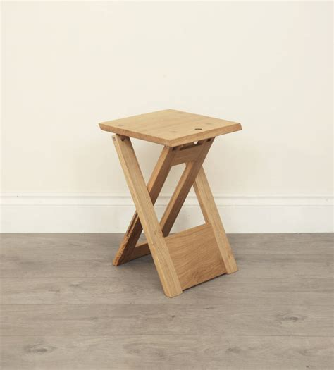 Small Wooden Folding Stool by Wooden Folding Stool Or Side Table By Griffin And Sinclair