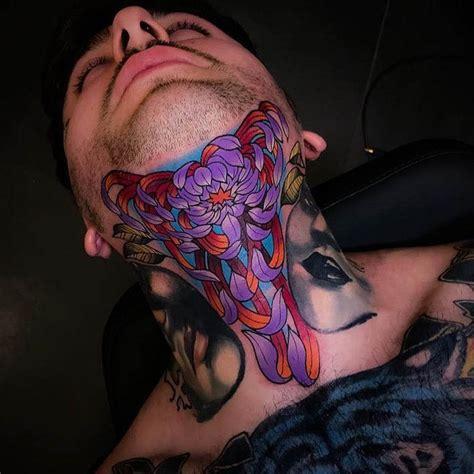 joker tattoo on neck flower tattoo on neck best tattoo ideas gallery