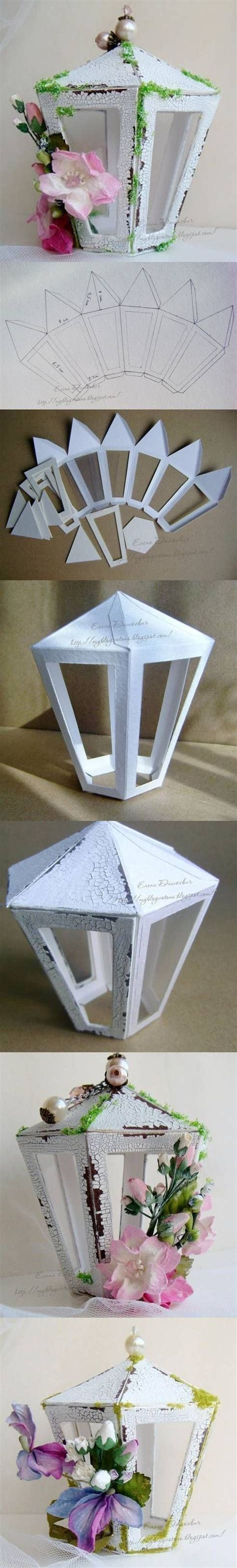 Paper Lantern Craft Template - diy cardboard lantern template diy projects usefuldiy