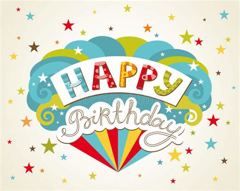happy birthday card design vector illustration happy birthday greeting card stock vector illustration