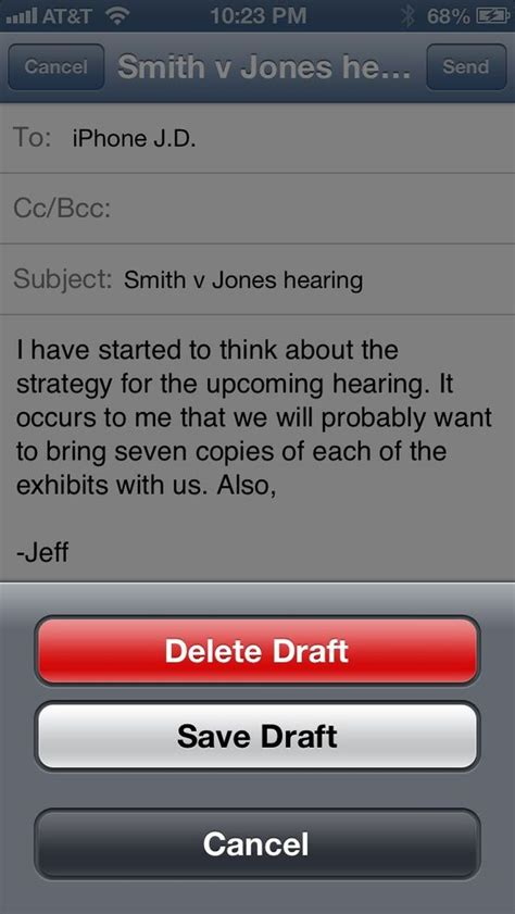 Iphone J D by Iphone Tip Save Draft Of Email Iphone J D