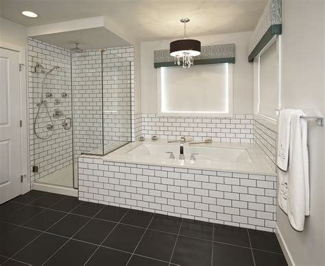 subway tile designs for bathrooms subway tile bathroom black grout bathroom pinterest