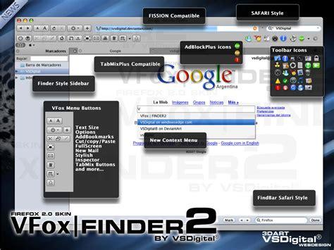 firefox themes skins vfoxfinder2 firefox skin by vsdigital on deviantart