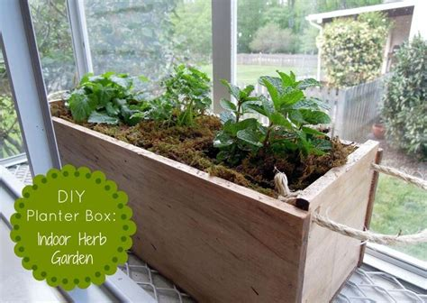 diy herb garden box diy planter box herb garden for the home pinterest