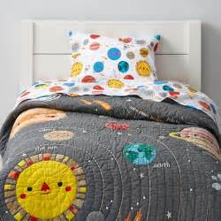 Toddler Bed Quilt Tutorial Space Toddler Bedding The Land Of Nod