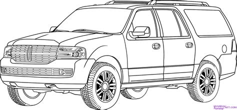 step 9 how to draw a lincoln navigator