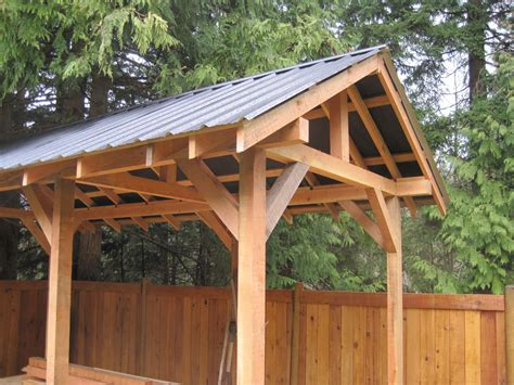 custom small post  beam structures peerless forest