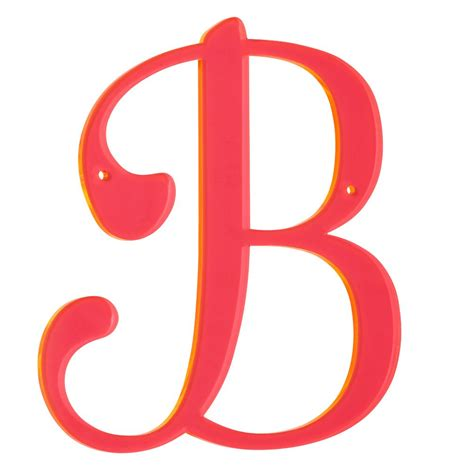 b b f neon calligraphy letter the land of nod