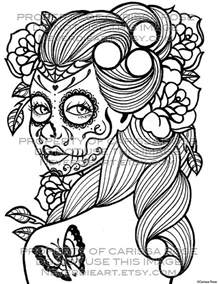 16 images of day of the dead sugar skull coloring pages