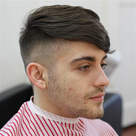 medium faded sides mid length mens hairstyles fade haircut