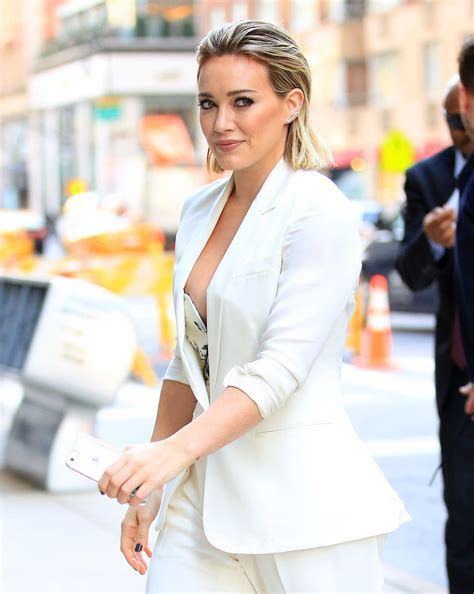 celeb pics today hilary duff nipple slip while arriving at today show in