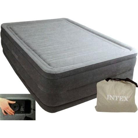 matela intex lit gonflable intex comfort plush high fiber tech 2 places