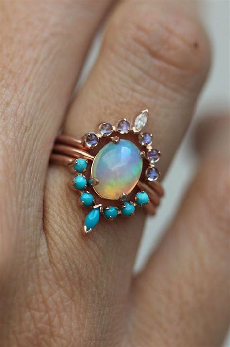 turquoise opal engagement rings 15339 best opals and for opals images on pinterest opals