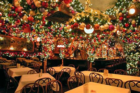 rolf s nyc 5 nyc bars and restaurants with crazy christmas decor