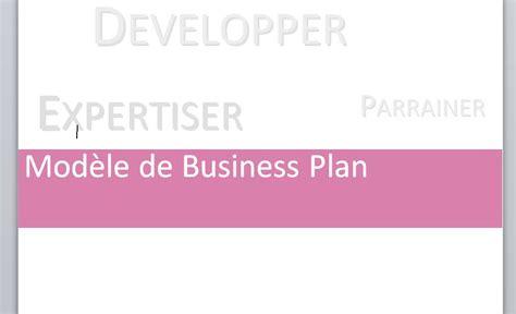 Modele Business Plan Gratuit Word