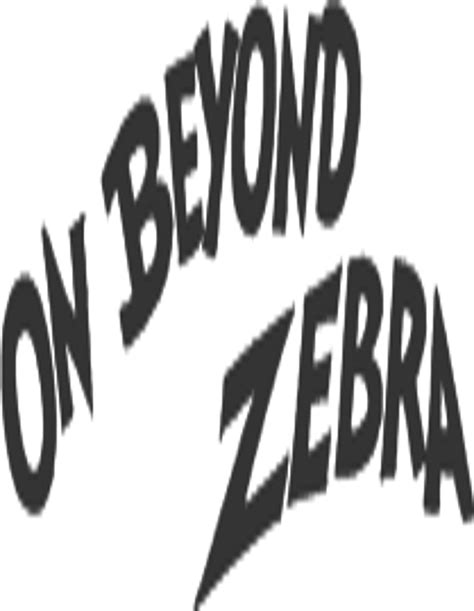 READ FREE On Beyond Zebra online book in english  All