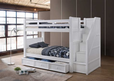 bunk bed with step drawers j a y furniture co