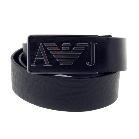 armani navy leather casual belt p6115 uk