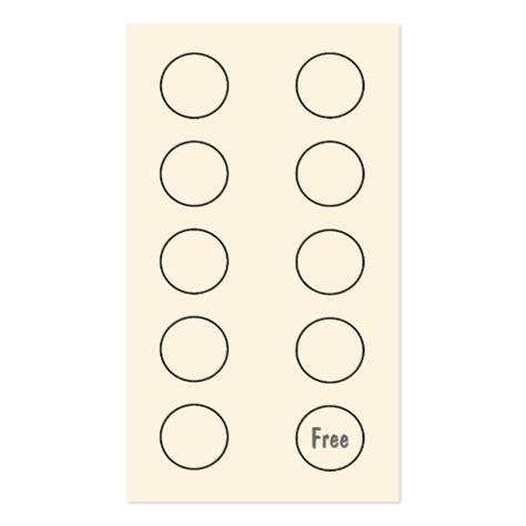 Punch Card Template Cyberuse Free Customer Loyalty Punch Cards Templates