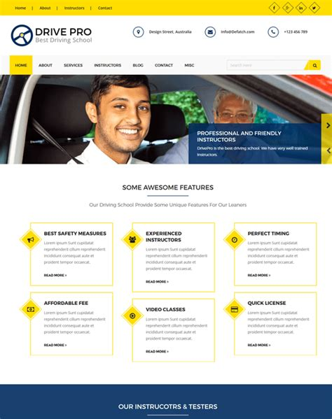 themes wordpress school 6 of the best wordpress themes for driving instructor