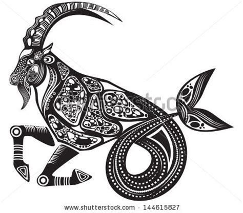 capricorn tattoo design graphic for facebook share