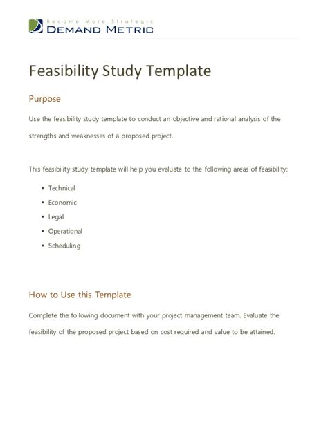 sle study template feasibility report template free 28 images flickriver