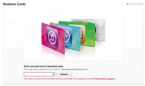 Itunes Gift Card Activation Problem - redeem and use itunes gift cards and content codes apple support
