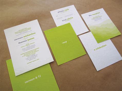 modern wedding invitations ideas tj s bilingual topographic map wedding invitations