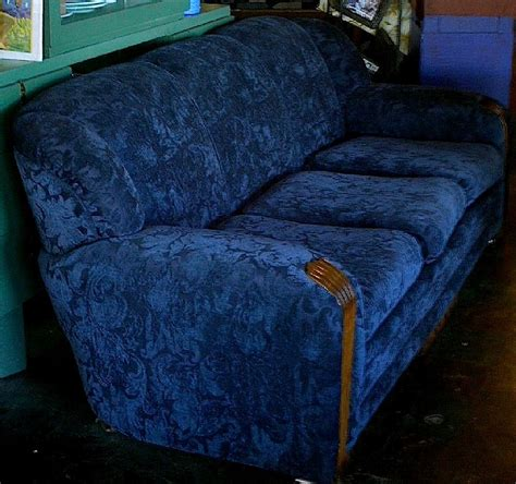 cobalt blue couch art deco sofa cobalt blue fabric art deco everything
